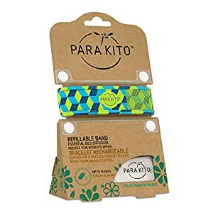 PARA'KITO Refillable Mosquito Wristband - Graphic Edition (Cubes)