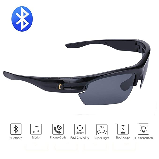 0d8b420303d Bluetooth Sunglasses Lightweight Design Smart One Touch function with  Wireless Stereo Bluetooth 4.1 Headset Headphones Polarized