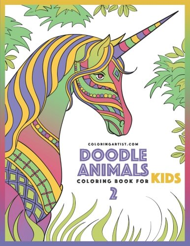 Doodle Animals Coloring Book for Kids 2 (Volume 2)