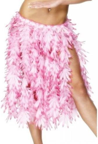 Largo hasta la rodilla para mujer rosa flores hawaiana Hula-chica ...
