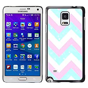Plastic Shell Protective Case Cover || Samsung Galaxy Note 4 SM-N910 || Pink White Blue Pattern @XPTECH
