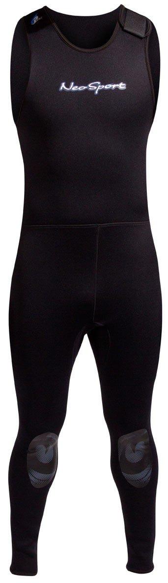 NeoSport Wetsuits Men's Premium Neoprene 5mm John,Black,X-Small by Neo-Sport