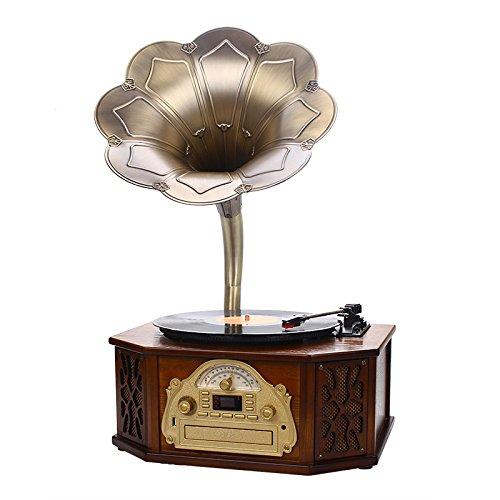GFEI Decoración del hogar Retro Tocadiscos Grabador/Old ...