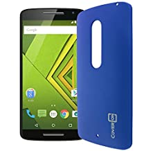 Motorola Droid Maxx 2 Case, Motorola Moto X Play Case, CoverON® [Slender Fit Series] Slim Matte Hard Polycarbonate Back Cover Phone Case For Motorola Droid Maxx 2 / Moto X Play - Royal Blue