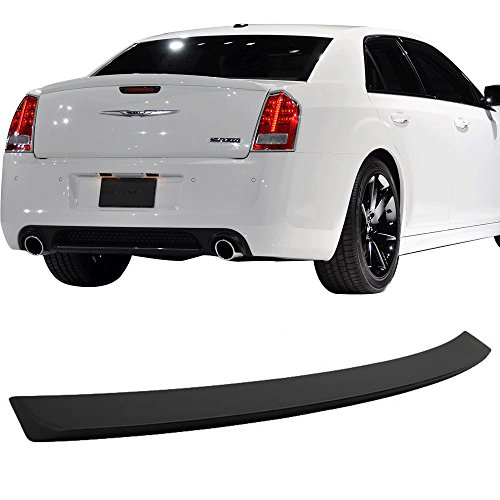 Trunk Spoiler Fits 2011-2018 Chrysler 300 | OE Style Unpainted ABS Car Exterior Trunk Spoiler Rear Wing Tail Roof Top Lid by IKON MOTORSPORTS | 2012 2013 2014 2015 2016 2017 (Wing Unpainted Spoiler)