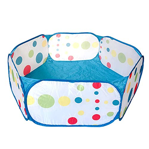 (Aeroway® Light Blue Kids Ball Pit Toddler Ball Playpen Baby Play Pit with Zippered Storage Bag Ideal for Toddlers Pets Indoor Outdoor Play (Balls Not Included))