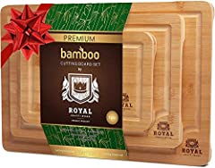 Enjoy Cooking Your Favorite Meals With Three Bamboo Boards! Cooking becomes a pleasure when there's an accessory for every cutting and chopping task. Royal Craft Wood is happy to introduce a cutting board set - use 3 boards to cook small meal...