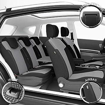RENAULT SCENIC IV 16-5-sièges Siège-auto Housses Gris Housses De Protection Housse De Siège Référence