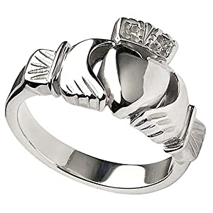 men 39 s irish sterling silver heavy claddagh ring from. Black Bedroom Furniture Sets. Home Design Ideas