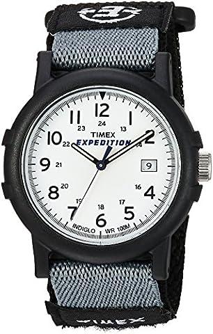 Timex Men's T49713 Expedition Camper Analog Quartz Black/White Watch - Timex Water Resistant Watch