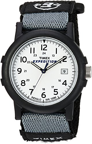(Timex Men's T49713 Expedition Camper Analog Quartz Black/White Watch)