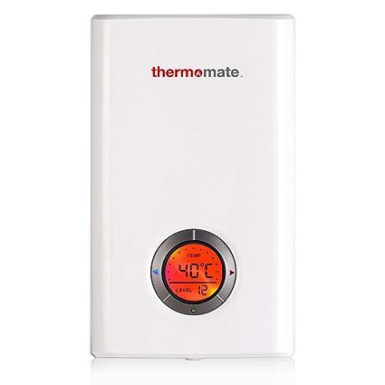 Thermomate ELEX9.6 9.6kW Calentador de Agua Instantáneo Eléctrico sin Tanque, con LED