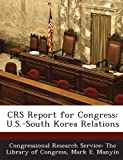 Crs Report for Congress, Mark E. Manyin, 1294274317