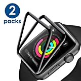 [2 - Pack] Apple Watch Screen Protector 44mm,Tempered Glass Full Coverage Anti-Scratch Waterproof Screen Film for iWatch 44mm Series 4