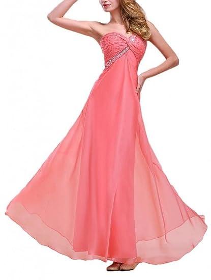 Dearta Womens Sheath One-Shoulder Floor-Length Prom Dress US 2 Watermelon