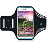 Cell Phone Bracelet with Fingerprint Touch, Phone Case Cover for Running Case Exercise Gym Exercise for iPhone X/8/7/6S/6 Plus/5, Galaxy S8/S7/S6, Google Pixel (5.5 '')