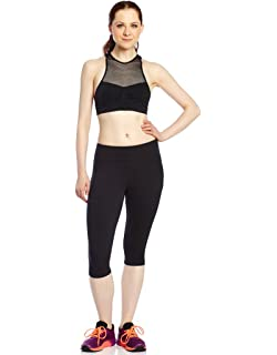 48e7073501 Leveret Women's Pants Cotton Yoga Capri Pants Workout Legging (Size  XSmall-XLarge)