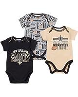 Gerber New Orleans Saints Short Sleeve Baby Boys Bodysuits - 3 Pack
