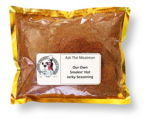 Ask The Meatman's Own Smokin' Hot! Jerky Seasoning (Blend 52) (Strategy And The Fat Smoker)
