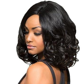 Amazon Com Bever Short Fluffy Wavy Wigs Short Curly Bob Wig