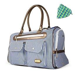 HOODDEAL Fashion Dog Carrier Dog Handbag Dog Purse Tote Bag Pet Cat Dog Hiking Backpack (Blue)
