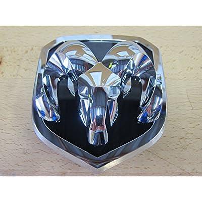 2013-2016 Dodge Ram Chrome Ram Head Grille Emblem Medallion Mopar OEM: Automotive