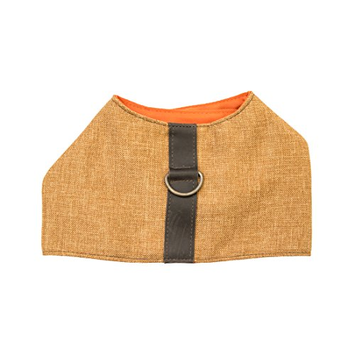 Durable & Soft Linen Dog Harness For Small Dogs Handmade by Hide & Drink :: Honey - Joque Harness