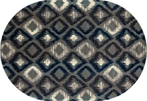 Art Carpet Daytona Collection Traveler Woven Oval Area Rug, 7' x 10', - Carpet Daytona