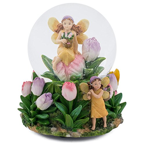 Cadona International, Inc Pixie Dust Fairies 100MM Music Water Globe Plays Tune Twinkle Twinkle Little ()