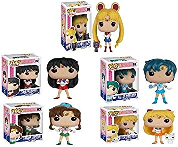Funko POP! Sailor Moon: Sailor Mercury / Sailor Mars / Sailor Jupiter / Sailor Venus + Sailor Moon - Vinyl Figure Anime 5 Pack Set NEW: Amazon.es: Juguetes y juegos