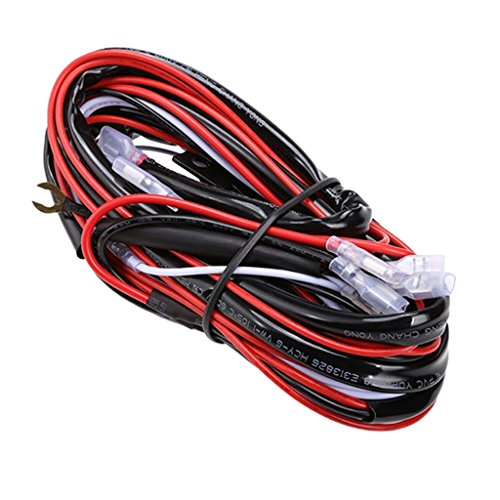 perfk Auto Replacement Wiring Loom Harness Relay Fuse Switch Kit 12V 40A Bar Work Light: