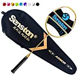 Senston N80 Graphite Single High-Grade Badminton Racquet Professional Carbon Fiber Badminton Racket Carrying Bag Included Gold Color