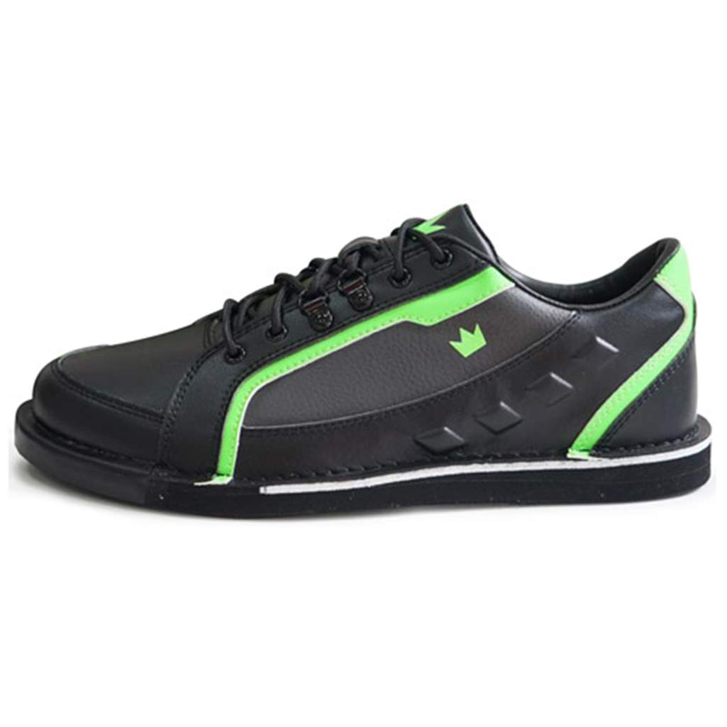 Brunswick Bowling Products Mens Punisher Bowling Shoes Right Hand- M US, Black/Neon Green, 8