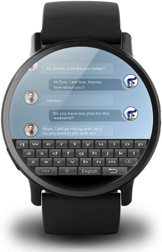 AUBERSIT Fitness Tracker, LEM X Android 7.1 4G 2.03 Pulgadas 900Mah 8MP Cámara Impermeable Reloj Inteligente Reloj Deportivo GPS Reloj Inteligente para hombr,Sin Correa de Cuero