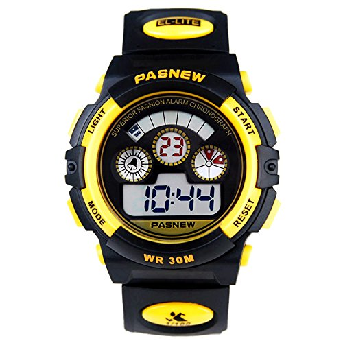 Watch Yellow Girls (Waterproof Boys/Girls/Childrens Digital Sports Watches for Kids age 5-12 Years Old Gift)