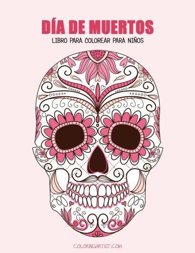 Día de Muertos libro para colorear para niños