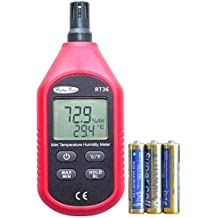 RockyMars RT36 Temperature and Humidity Meter Humidity Monitor Humidity Gauge Hygrometer