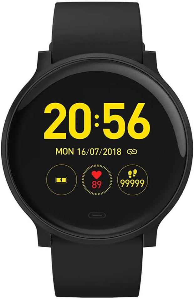 YANGPANGZI Reloj Inteligente Redondo ultradelgado IP68 a Prueba de Agua con frecuencia cardíaca Deportiva Reloj Inteligente Redondo