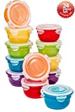 8 oz freezer containers - Lock & Lock 24pc Set Plastic Food Storage Mini Bowl 250ml/8 oz Assorted Container Airtight Anti-Spill Proof Technology