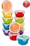 Lock & Lock 24pc Set Plastic Food Storage Mini Bowl 250ml/8 oz Assorted Container Airtight Anti-Spill Proof Technology