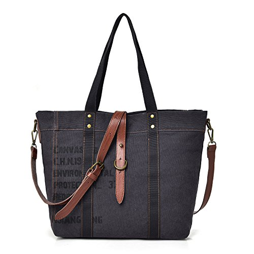 Hobo Canvas Shoulder Ladies Black Bag Handbag Women's Women's Totes Canvas OqwS6tt
