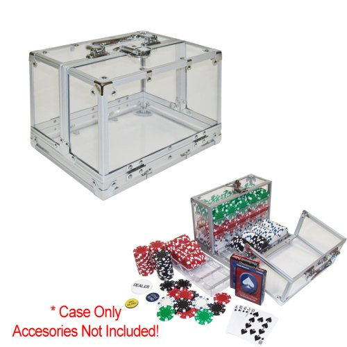 Deluxe 600 Chip Clear Heavy Duty Acrylic Poker Chip Carrier by CCS