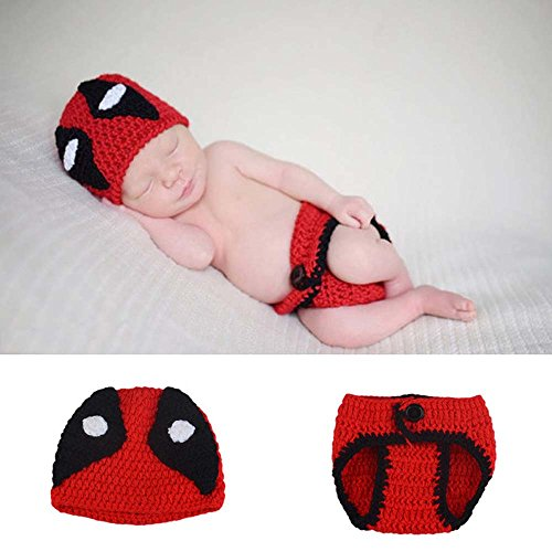 Bodyguard Costumes (Osye Crochet Knitted Outfit Bodyguard Hat Photography Props Costume Set)