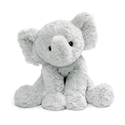 "GUND Cozys Collection Elephant Stuffed Animal Plush, Gray, 8"": Toys & Games"