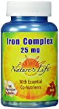 Cheap Nature's Life Iron Complex , 25 Mg, with Essentiall Co-Nutrients, 100 Vegetarian Capsules