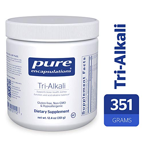 (Pure Encapsulations - Tri-Alkali - Mineral Citrates with Vitamin D3 to Support Bone Health, Kidney Function, and Acid-Alkaline Balance* - 351 Grams)