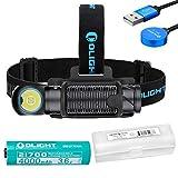 OLIGHT Perun 2 2500 Lumen Rechargeable Headlamp with LumenTac Battery Organizer (Color: Black)