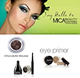 Mica Beauty Cosmetics Mineral Makeup Gel Eyeliner Chocolate Mousse + Eye Primer For Sale