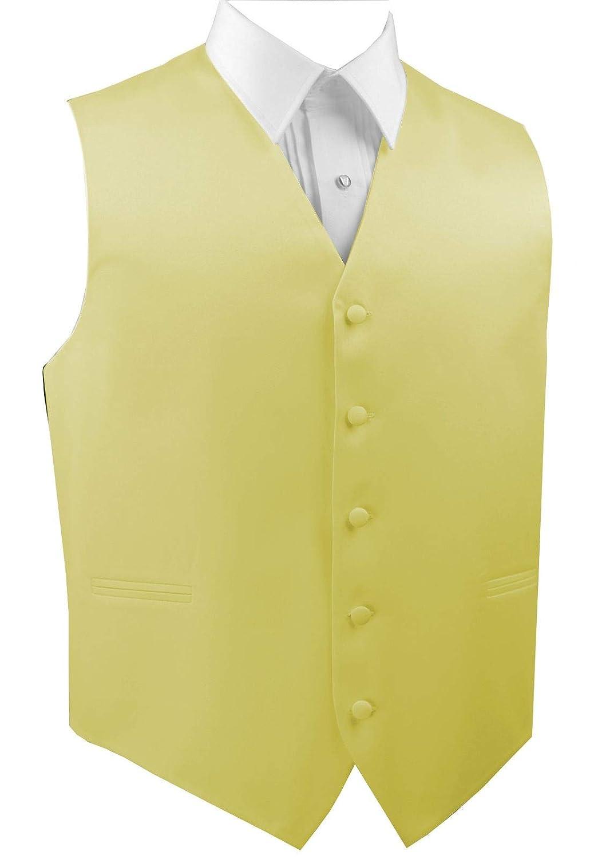 Italian Design Mens Formal Tuxedo Vest in Canary
