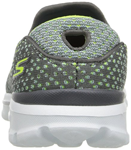 Skechers Performance Dames Go Walk 3 Go Knit Wandelschoen Grijs / Lime